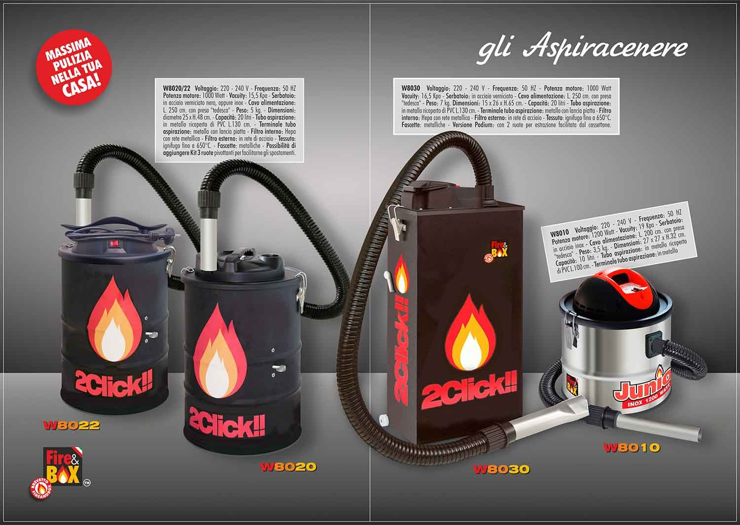 Gli Aspiracenere Fire And Box